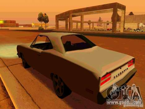 Plymouth Road Runner 426 HEMI 1970 for GTA San Andreas back left view