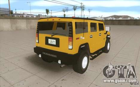 Hummer H2 for GTA San Andreas side view