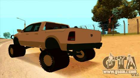 Dodge Ram 2500 4x4 for GTA San Andreas left view