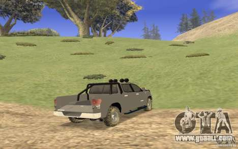 Toyota Tundra 4x4 for GTA San Andreas right view