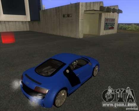 Audi R8 5.2 FSI for GTA San Andreas back left view