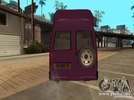 Gazelle 32213 taxi for GTA San Andreas back view