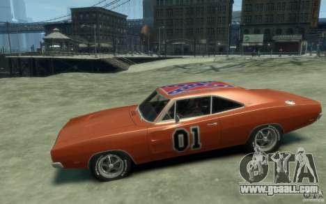 Dodge Charger General Lee v1.1 for GTA 4 left view