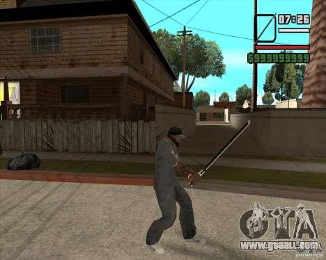 Sasuke sword for GTA San Andreas third screenshot