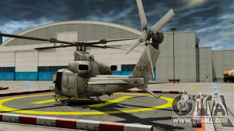 Helicopter Bell UH-1Y Venom for GTA 4 back left view