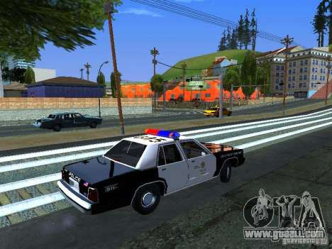 Ford Crown Victoria LTD 1992 LSPD for GTA San Andreas back left view