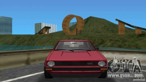 Volkswagen Golf Mk1 GTI for GTA Vice City back left view