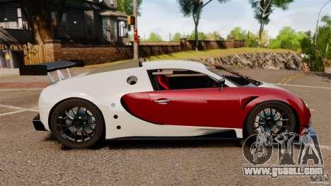 Bugatti Veyron 16.4 Body Kit Final Stock for GTA 4 left view
