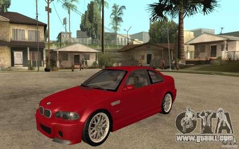 BMW M3 CSL for GTA San Andreas