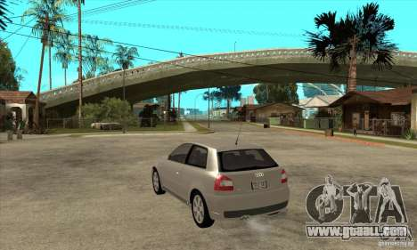 Audi S3 for GTA San Andreas back left view