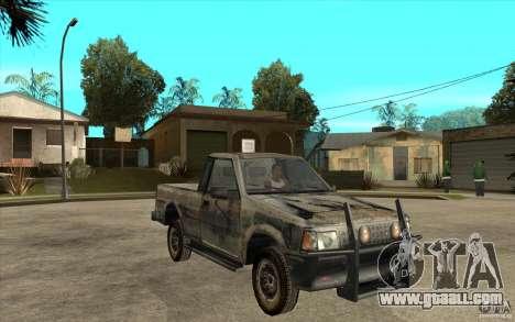 Rusty Mazda Pickup for GTA San Andreas back view