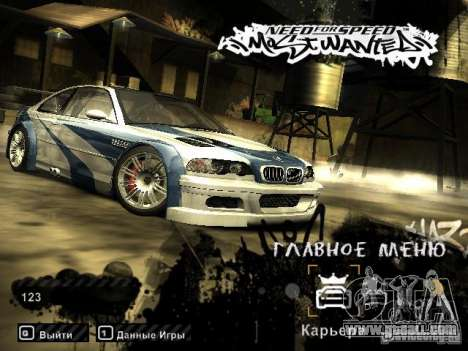 Loading screens in the style of NFS: Most Wanted for GTA San Andreas forth screenshot