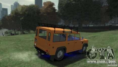 Land Rover Defender Station Wagon 110 for GTA 4 back left view
