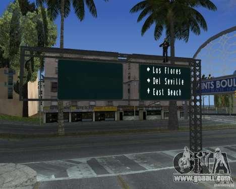 Road signs v1.0 for GTA San Andreas forth screenshot