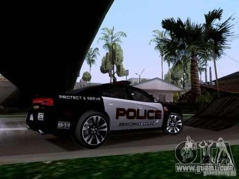 Dodge Charger SRT8 2011 V1.0 for GTA San Andreas back view