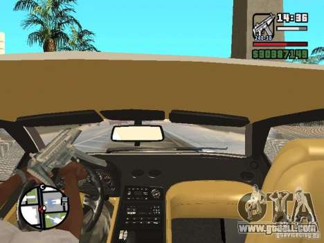 Lamborghini Diablo VT 1995 V2.0 for GTA San Andreas bottom view