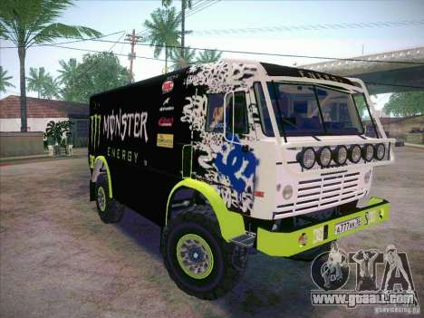 KAMAZ Master 4911 Monster Energy for GTA San Andreas back left view
