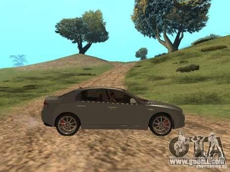 Alfa Romeo 159Ti for GTA San Andreas back view