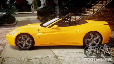 Ferrari California v1.0 for GTA 4 left view