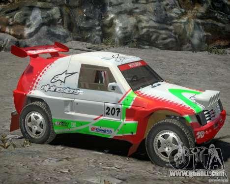 Mitsubishi Pajero Proto Dakar EK86 Vinyl 2 for GTA 4 left view