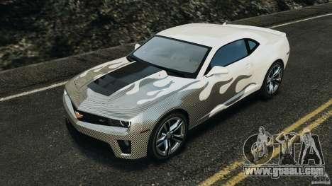 Chevrolet Camaro ZL1 2012 v1.0 Flames for GTA 4