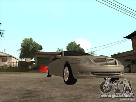 Mercedes-Benz Pullman (w221) SE for GTA San Andreas inner view
