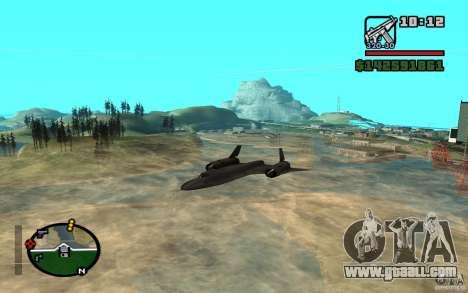 SR-71 Blackbird for GTA San Andreas left view