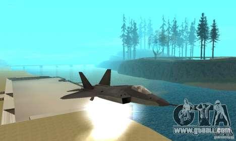 YF-22 Black for GTA San Andreas side view