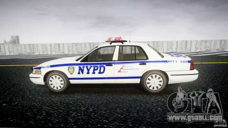 Ford Crown Victoria Police Department 2008 NYPD for GTA 4 back view