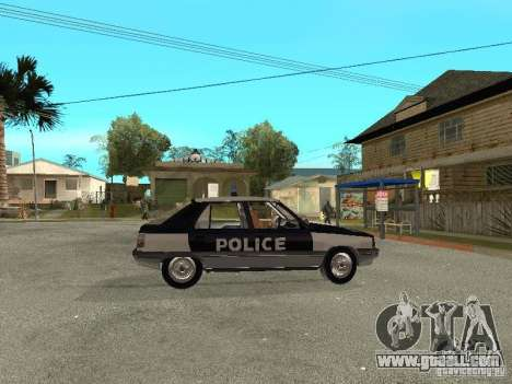 Renault 11 Police for GTA San Andreas right view