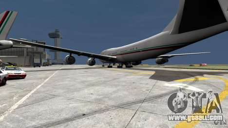 Real Emirates Airplane Skins Flagge for GTA 4 left view