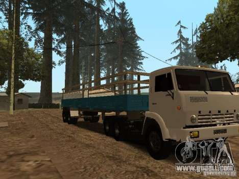Trailer for Kamaz 5410 for GTA San Andreas back left view