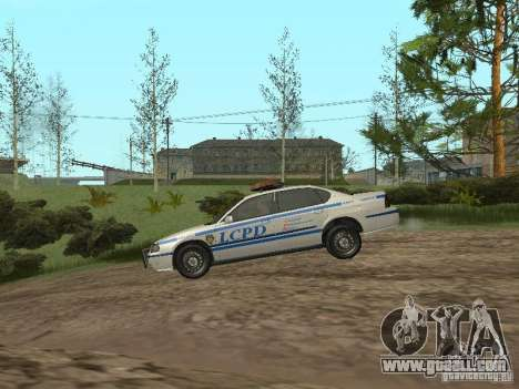Police from GTA 4 for GTA San Andreas back left view