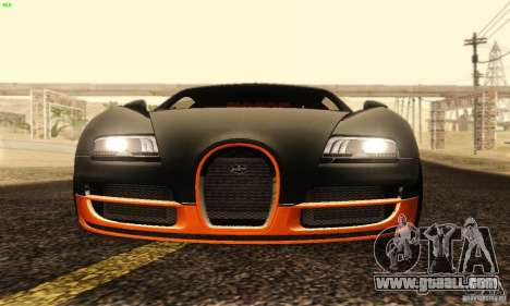 Bugatti Veyron SuperSport for GTA San Andreas upper view