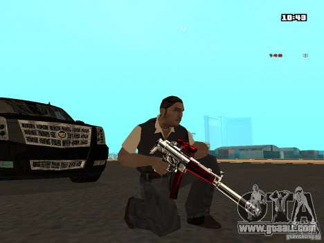 White Red Gun for GTA San Andreas forth screenshot