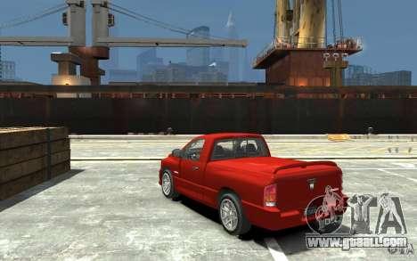 Dodge Ram SRT-10 v.1.0 for GTA 4 back left view