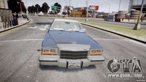 Cadillac Fleetwood Brougham 1985 for GTA 4 bottom view
