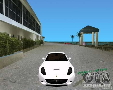 Ferrari California for GTA Vice City back left view