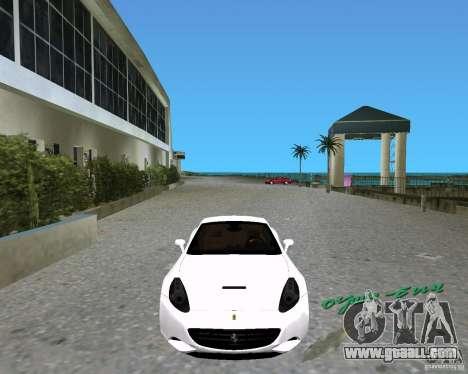 Ferrari California for GTA Vice City back left view