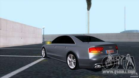 Audi S8 2012 for GTA San Andreas back view
