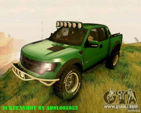 Ford F150 2011 SVT RapTor for GTA San Andreas