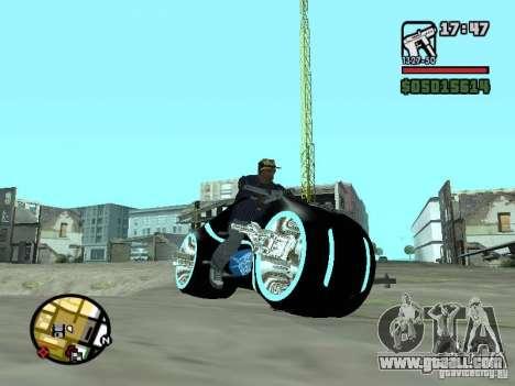 Tron legacy bike v.2.0 for GTA San Andreas left view