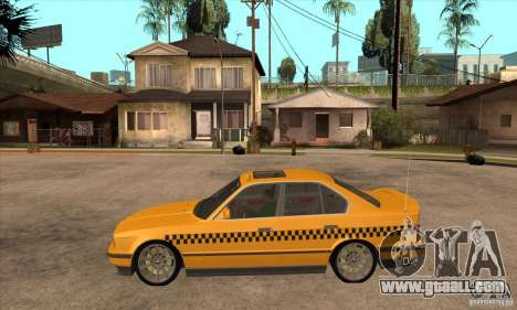 BMW E34 535i Taxi for GTA San Andreas left view