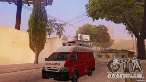 Toyota Hiace Philippines Red Cross Ambulance for GTA San Andreas