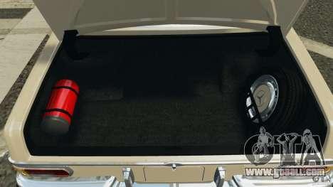 Mercedes-Benz 300Sel 1971 v1.0 for GTA 4 interior