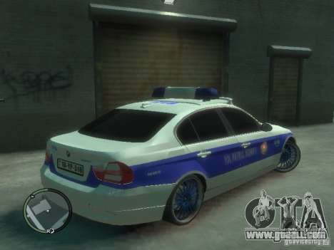 BMW 320i Police for GTA 4 right view