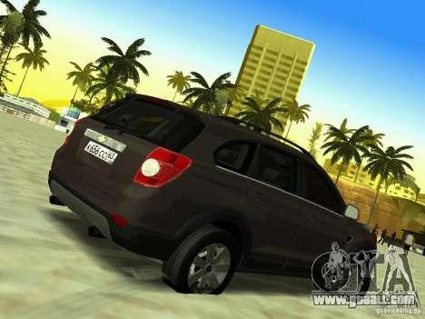 Chevrolet Captiva for GTA San Andreas inner view