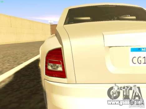 Rolls-Royce Phantom V16 for GTA San Andreas upper view