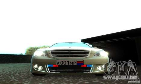 Mercedes-Benz S500 W221 Brabus for GTA San Andreas side view