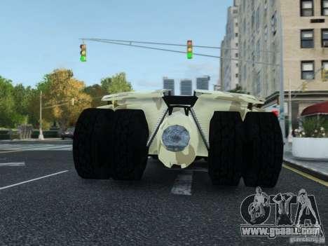 HQ Batman Tumbler for GTA 4 inner view